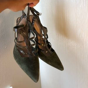 Olive green Fall shoes
